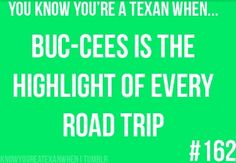 You're a Texan...