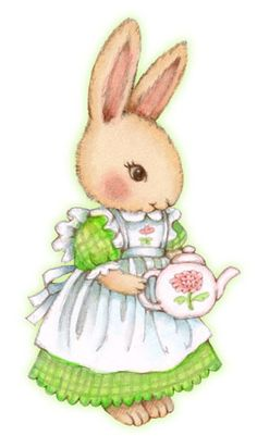 Bunnies - Tea Bunny © Carmen Medlin Bunny Art, Cute Bunny, Bunny Bunny, Lapin Art, Easter Wallpaper, Rabbit Art, Easter Printables, Art Portfolio, Cute Illustration