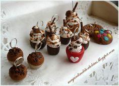 Pendentes Cupcake  em Fimo By Val - meujardimdeborboletas.blogspot.com