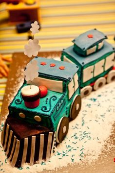 What a cool cake at a Vintage Train Party.   See more party ideas at CatchMyParty.com. #trainpartyideas