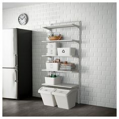 IKEA - ALGOT Wall upright/shelves metal white