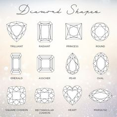 Different Diamond cuts Different Diamond Cuts, Diamond Shapes, Ready To Pop, Brand Collection, Diamond Engagement Rings, Wedding Bands, Custom Design, Jewels, Jewerly