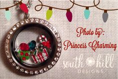Merry Christmas from South Hill Designs #southhilldesigns #christmas #locket #charms #floatinglocket #christmastree