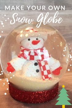 Your Own Glitter Snow Globe -Make Your Own Glitter Snow Globe - Snow Globe Christmas Cake. I like the simplicity of this cake. Snowman Bubble Air Plant Terrarium Christmas by AirPlantShopCom Best Snow Globe Cake Recipe Snow Globe Crafts, Diy Snow Globe, Snow Globes, Holiday Crafts For Kids, Crafts For Kids To Make, Kids Crafts, Holiday Games, Kids Globe, All Things Christmas