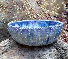 Sea Urchin candy bowl or trinket dish in blue by EarthElements, $28.00