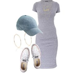 A fashion look from October 2015 featuring Monrow dresses, Converse sneakers and River Island earrings. Browse and shop related looks.