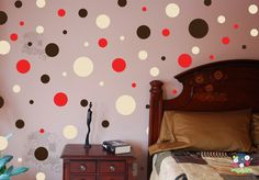 Polka Dots  Vinyl Art Wall Decal  Living Room Hallway by evgieNev, $22.00