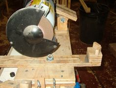 Sharp edges for your woodturning tools: Making the Jig Arm