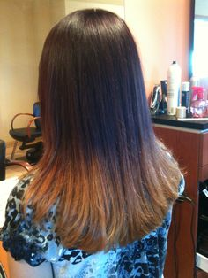 Horrible! ombre hair color...