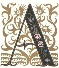 グリム童話:スノードロップ(白雪姫) 装飾文字 Grimm's Fairy Tales:Snowdrop / Letters