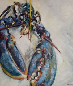 Yellow Lobster Print, x Crab Painting, Silk Painting, Lobster Art, Watercolor Fish, Watercolour, Underwater Art, A Level Art, Ocean Art, Fish Art