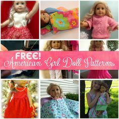 Fee America Girl Doll Patterns