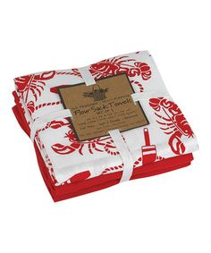 Another great find on #zulily! Red Lobster Flour Sack Towel Set #zulilyfinds