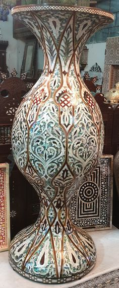BIG GREEN SHELL VASE Traditional Vases, Shells, Green, Big, Home Decor, Conch Shells, Decoration Home, Room Decor, Seashells