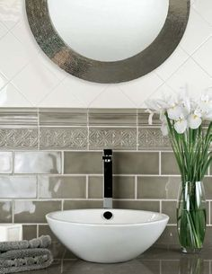 custom tile shower ideas | Subway Tile Bathroom Ideas | Urban Collection Naturals | Materials ...