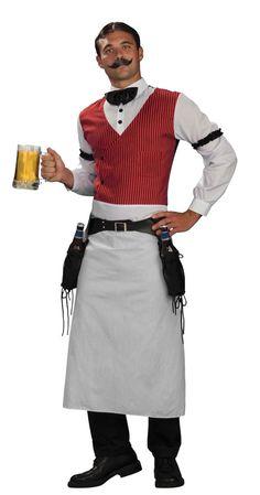 Barkeeper Schnurrbart-kostüme modern Männer Fasching-originelle Ideen