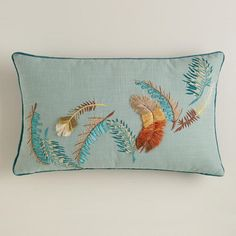 One of my favorite discoveries at WorldMarket.com: Feathers Lumbar Pillow