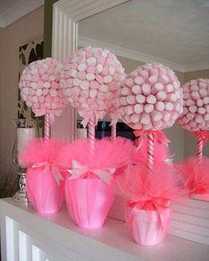 Lindas essas toparias de marshmallows para serem usadas como centros de mesa. Imagem Pinterest      #festejarcomamor #festainfantil #festamenina #festamenino #festameninoemenina #maedemenino #maedemenina #aniversarioinfantil #aniversariomenina #aniversariomenino #partyideas #kidspartyideas #chadebebe #babyshower #chadebebemenina #chadebebemenino #princesa #festaprincesas #festaprincesa