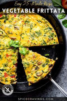 Healthy, filling and loaded with veggies, this Vegetable Frittata is one satisfying, low-carb dish that's great for breakfast, brunch, lunch or dinner. #breakfast #eggs #brunch Best Egg Recipes, Quick Dinner Recipes, Brunch Recipes, Breakfast Recipes, Brunch Ideas, Breakfast Ideas, Quick Healthy Snacks, Easy Healthy Breakfast, Best Breakfast