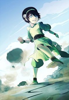 Earthbending Toph - she just looks so happy!