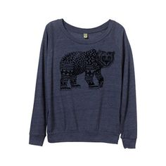 New Tribal Bear Sweater Womens Aztec Pattern Bear Sweater Small Medium... (46 CAD) ❤ liked on Polyvore featuring tops, dark olive, sweaters, women's clothing, shirt top, long sleeve tops, extra long sleeve shirts, aztec print tops and long sleeve shirts