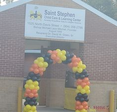 Balloon Arch, Balloons, Saint Stephen, String Of Pearls, Learning Centers, Childcare, Globes, Child Care, Balloon