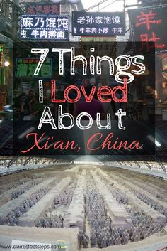 I was pleasantly surprised by the beautiful city of Xi'an. With city walls, yummy street food, terracotta warriors and nearby mountains, there's lots to love about this city!