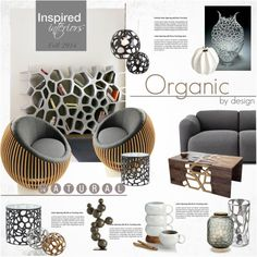 Organic by nyrvelli on Polyvore featuring interior, interiors, interior design, home, home decor, interior decorating, Normann Copenhagen, Arteriors, Nambé and David Patchen