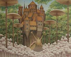 Jacek Yerka - Mushroom alley