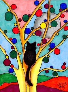 ACEO KITTY IN HAPPY PLACE ON EBAY