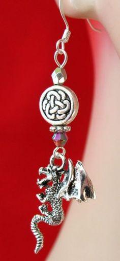 Silver Celtic Dragon Charm Earrings  http://cgi.ebay.com/ws/eBayISAPI.dll?ViewItem=160920640267