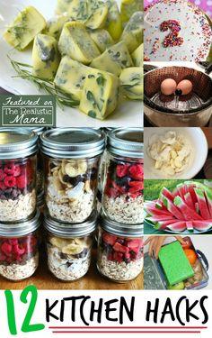 12 Kitchen Hacks - The Realistic Mama
