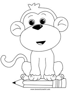 addobbi-aula-scimmia Jungle Coloring Pages, Animal Coloring Pages, Colouring Pages, Coloring Sheets, Basic Drawing For Kids, Toddler And Baby Room, Monkey Pictures, Hand Embroidery Videos, String Art Patterns