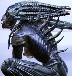 H.R. Giger Species | The creature of the movie Species, by H.R. GIGER