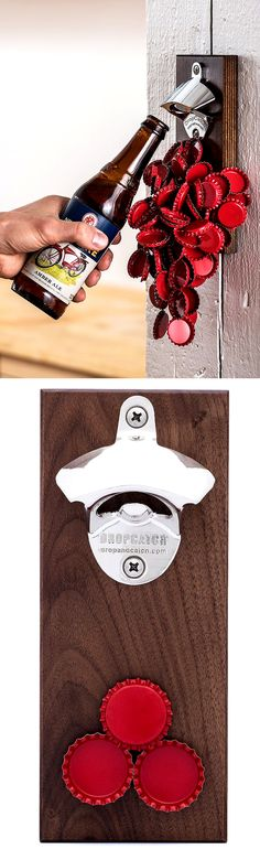 A smart way to keep bottle caps from going all over your place. Check it out==> | DropCatch Magnetic Bottle Opener & Cap Catcher | http://gwyl.io/dropcatch-magnetic-bottle-opener-cap-catcher/