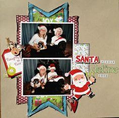 scrapbook christmas layouts | Christmas scrapbook page layout | Scrapbook