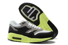 new style 4bd62 dfb8d Now Buy New Arrival Nike Air Max Lunar 1 Mens Grey White Black Green Save  Up From Outlet Store at Footlocker.