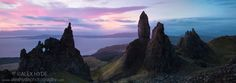 The Old Man of Storr at dawn, Trotternish, Isle of Skye, Scotland.