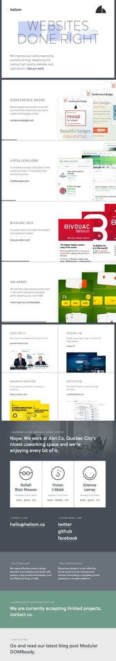 Heliom — Web Agency http://heliom.ca