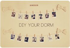 DIY Your Dorm Room! Great project that can be made using either our Classic or DIY Prints!  Could be used in apartment/house also.