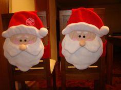 adornos navideños para sillas de comedor - Buscar con Google