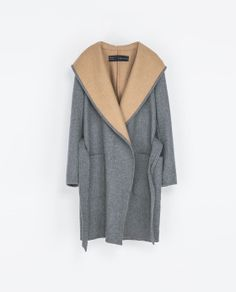 ZARA - WOMAN - HOODED WOOL COAT Tried this on today and can't wait to own it!