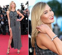 Karlie Kloss's wearing Louis Vuitton dress at youth premier