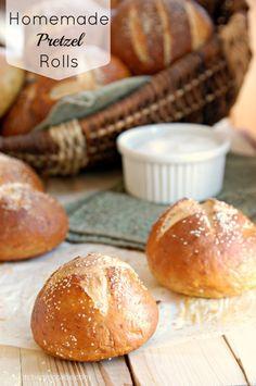 The Kitchen McCabe: Soft homemade Pretzel Rolls
