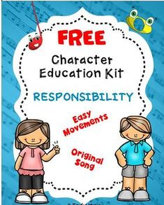 ***FREE DOWNLOAD for RESPONSIBILITY******KID FRIENDLY MP3 Vocal Track***This K-5th Character Education Song Kit for RESPONSIBILITY contains:• Words & Music: Melody line with Chords• Songsheet with Lyrics only• Easy Movement Suggestions for the song (simple hand movements with students standing i... Teaching Kindergarten, Piano Teaching, Teaching Kids, Teaching Resources, Homeschooling Resources, Free Characters, Music Education Activities, Character Education, Original Song