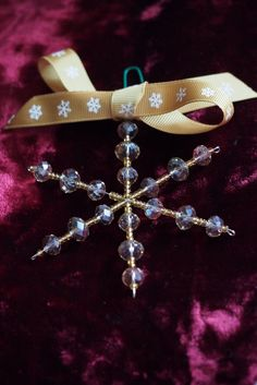 Hand-made Christmas decorations from Sarah Beevers Jewellery Design.