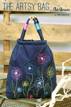 Soulful Eyes: Free Project : The Artsy Bag: I love these scribble flowers!