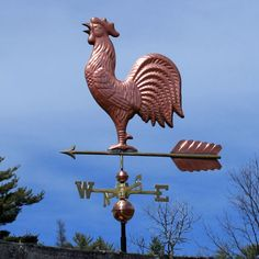 Copper Rooster Weathervane 2002 | Weathervane Factory