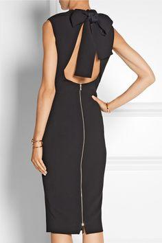 Victoria Beckham Cutout silk and wool-blend crepe dress NET-A-PORTER.COM