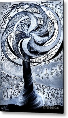 Tornado Of Parallel Worlds Metal Print By Sofia Queen